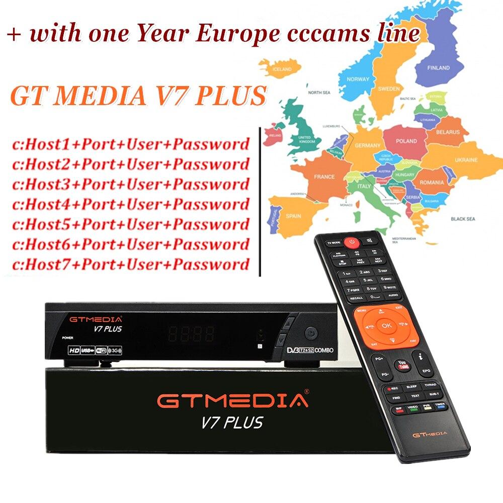 Récepteur de télévision par Satellite GTMEDIA V7 PLUS DVB-S2 récepteur Satellite avec Europe ligne Cccams Portugal allemagne pologne espagne italie