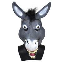 Movie Character Donkey Shrek Mask for Party Handmade Full Head Latex Mask in Halloween Carnival