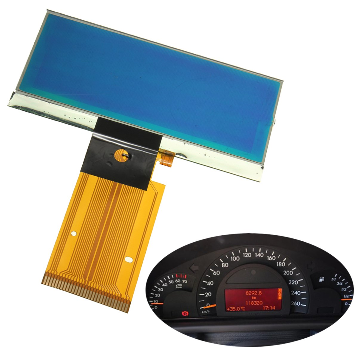 Car Auto LCD Display Screen Speedometer Cluster For Mercedes-Benz C-Class W203 C230 C240 C32 & C55 For AMG 2001 2002 2003 2004 amg mercedes c class dtm 2008 с двигателем г киев