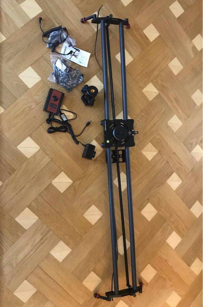 ASHANKS S2 Silent Stepper Motor Motorized Timelapse Carbon Fiber Slider for Electric Control Follow Focus Interviews Shooting