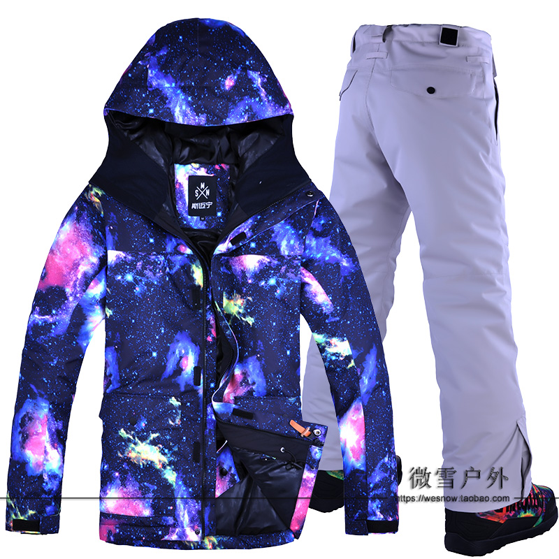 Men Ski Suit Hooded Super Warm Skiing Jacket Pant Thicken Thermal Winter Clothing Trouser Male Outdoor Sport Wear Windproof SuitMen Ski Suit Hooded Super Warm Skiing Jacket Pant Thicken Thermal Winter Clothing Trouser Male Outdoor Sport Wear Windproof Suit
