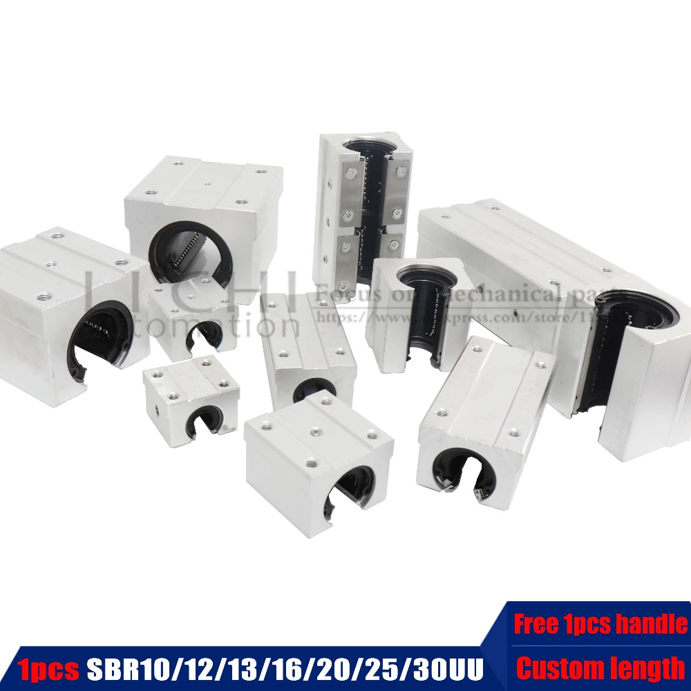 Customized Aluminum Linear Guide Linear Shaft Guide Rail SBR10//12//16//20//25//30//35//40//50 Bearing Slide SBR12UU SBR16UU SBR20UU