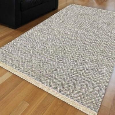 Else Gray White Wave Bias Lines Geometric Vintage Ikat Nordec Anti Slip Kilim Washable Decorative Plain Paint Woven Carpet Rug