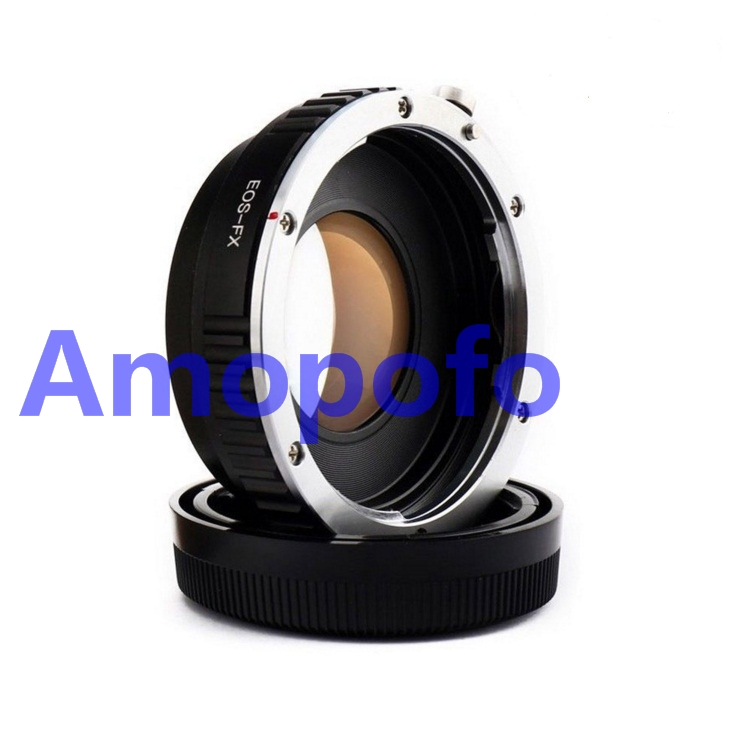 Amopofo EF-FX Camera Speed Booster Focal Reducer Adapter For Canon EF Lens to FX X-Pro1, X-E1, X-E2, X-M1, X-A, SR/X-600 amopofo md fx focal reducer speed booster adapter for minolta mc md lens to fuji fx x pro1 x e1 x e2 x m1 x a sr x 600
