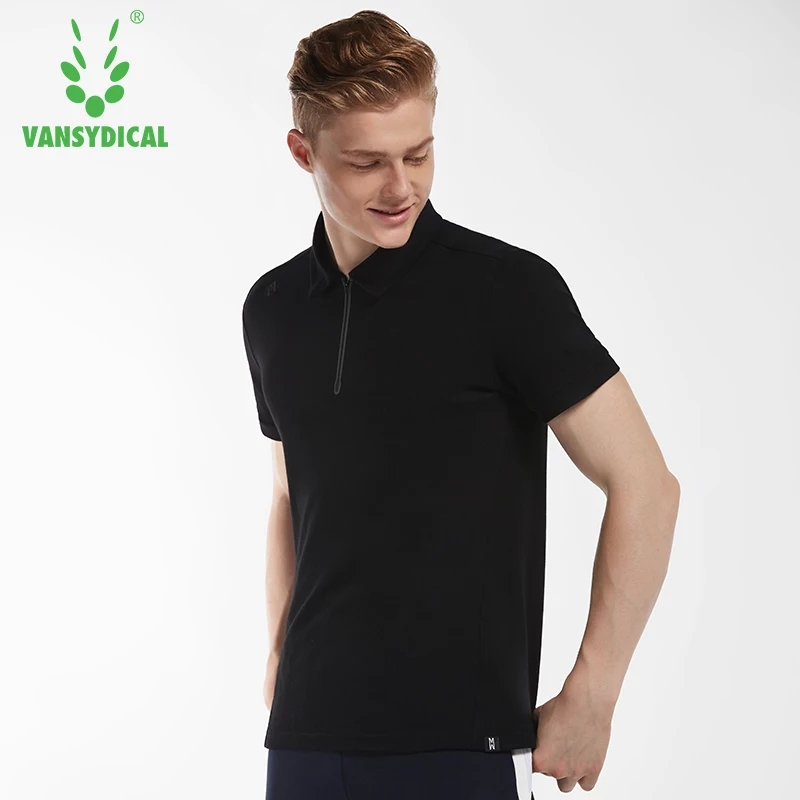 Summer Sports Polo Shirts Tops Mens Cotton Breathable Running T-Shirts Fitness Workout Short Sleeve Sportswear