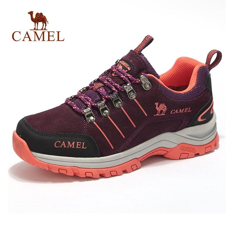 CAMEL Women Outdoor Hiking Shoes Shock absorption Anti skid Travel Camping Trekking Shoes