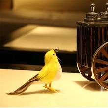Artificial Colorful Animal Birds Feather Realistic Garden Home Decor Ornaments Figurine Miniature Gifts Desktop Decoration 12cm