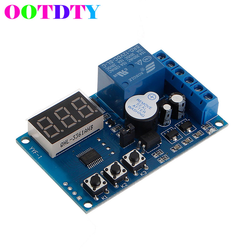 DC 12V Charging Discharge Switch Control Module Voltage Monitor Switch Board dc relay module control board 12v switch load voltage protective detection test 828 promotion
