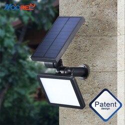 Nova luz solar 48 led portátil lâmpada de energia solar à prova dwaterproof água casa quintal iluminação ao ar livre led solar jardim luz caminho lâmpada de parede