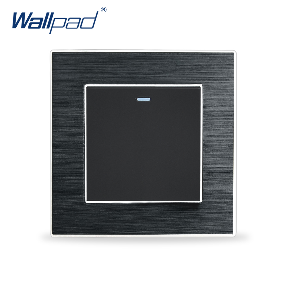 цены  1 Gang intermediate Switch 3 Way Switches Wallpad Luxury Wall Light Switch Satin Metal Panel