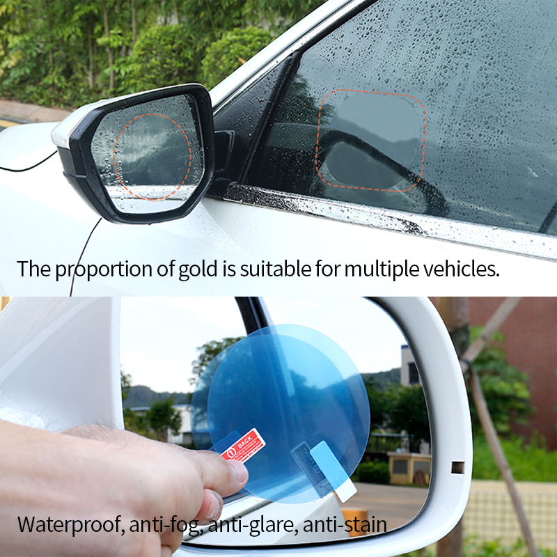 Car Stickers Rearview Mirror Protective Film Anti Scratch Nano Waterproof Rainproof Anti Fog Rear View Mirror Accessories Goods