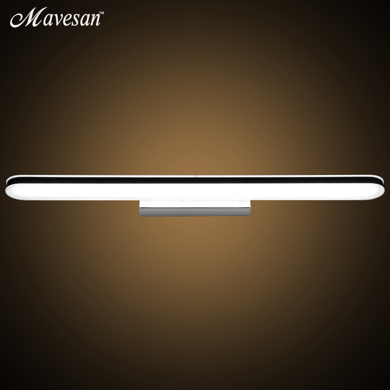 3W-16W -90-265v Modern Bathroom Led Mirror Light Indoor Waterproof Led For Bathroom Wall Sconce Lamp Apliques De Pared Luz zinuo modern led mirror light 6w 12w waterproof 33cm 53cm for bathroom wall sconce lamp apliques de pared luz ac 90v 260v
