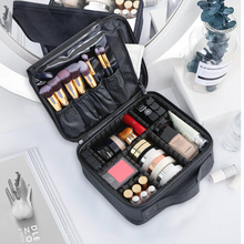 Large Cosmetic Bag Women Travel Waterproof Double Layer Organizer Toiletry Beauty Brushes Professional Makeup