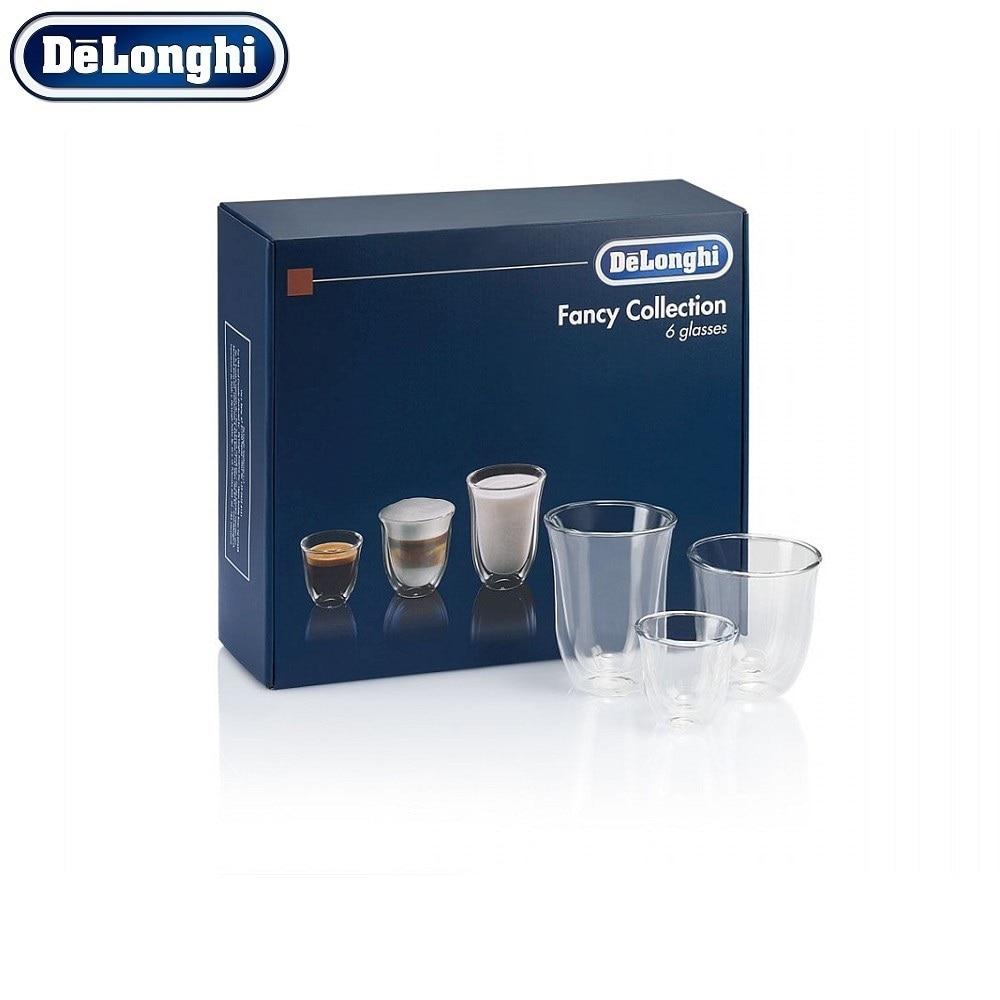 Set of cups De'Longhi Mix Glasses Set (6 pcs) glasses cups 4001 for yogurt maker 200 ml 4 pcs plastic cover date of expiry indication