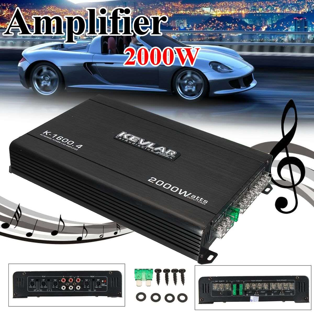 4 Channel Car Amplifier Audio 2000w 12dB High Power Car Amplifiers High Power lab gruppen fp20000q best quality audio power amplifiers