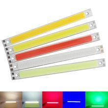 [ALLCOB] 10PCS/lot 10W LED COB Strip 120*10mm 12V DC 1000LM Warm White Blue Red Green FLIP Chip for DIY Car cob led light Source