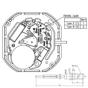 Image 5 - יפן 3 יד קוורץ שעון תנועה Epson VX43 יום ותאריך באופן 3:00 גובה כולל 4.5mm MO1094A