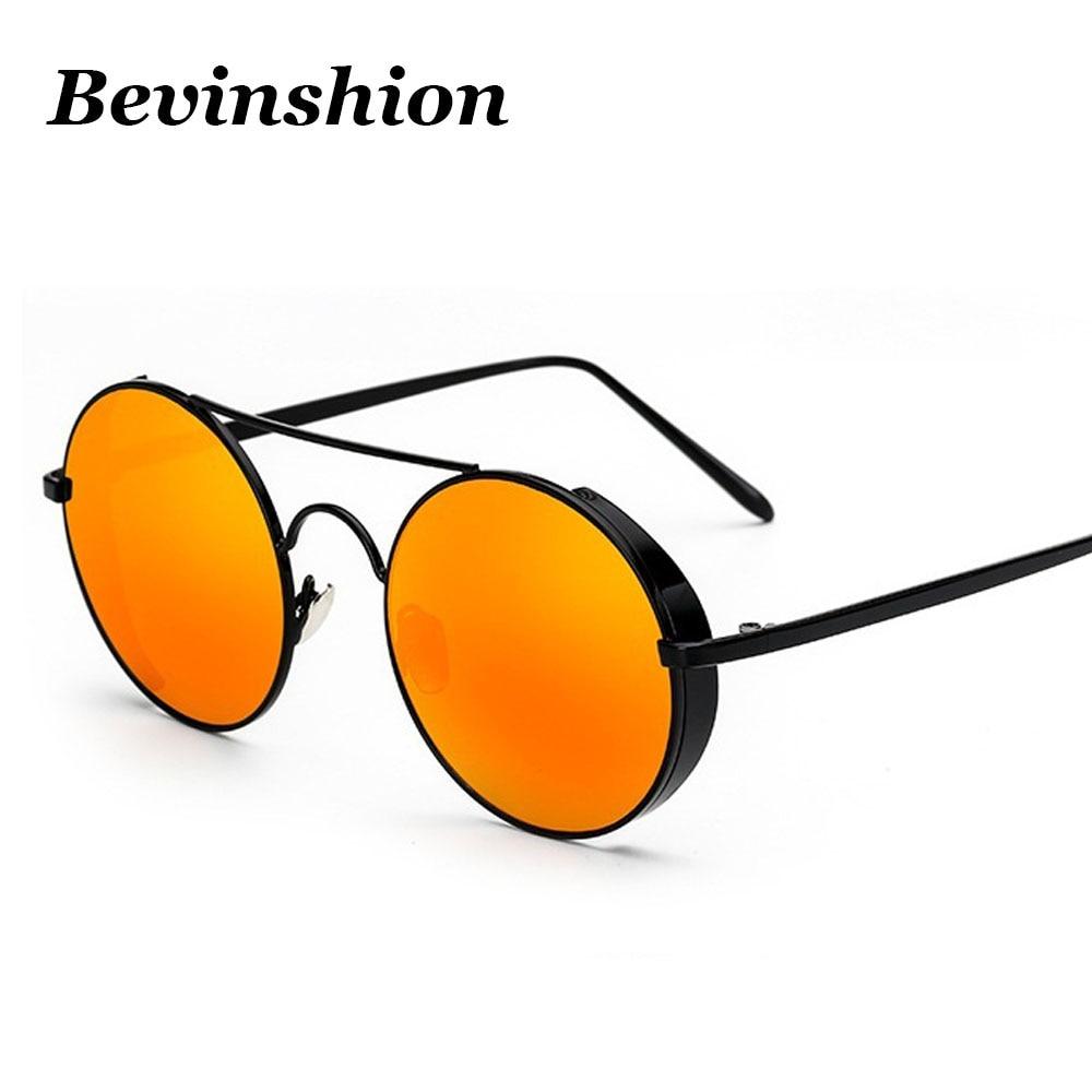 Marke Runde Sonnenbrille Frauen Steampunk Rosa Spiegel Dicken Rahmen ...