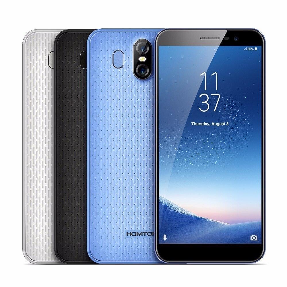HOMTOM S16 смартфон 3g 5,5 Android 7,0 MTK6580 Quad core 1. 3g Hz 2 ГБ Оперативная память 16 ГБ Встроенная память отпечатков пальцев Сенсор оты 13.0MP + 8MP камеры