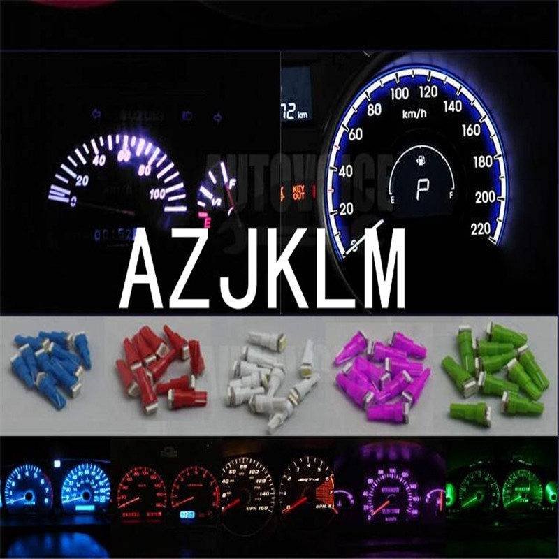 50x Twist-in White Instrument Panel Dash Light LED Bulb Sockets T5 74 2721 17 18 37 70 LED Bulbs Speedometer Dash Gauge Light