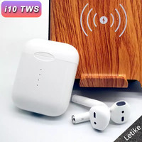 i10 TWS Bluetooth Earphones Wireless earphone V5.0 Touch control Earbuds &3D Surround Sound with charger case for all smartphone