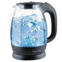 Чайник электрический Maxwell MW-1083 TR (Мощность 2200 Вт, объем 1.7 л, стеклянный корпус, подсветка, фильтр)