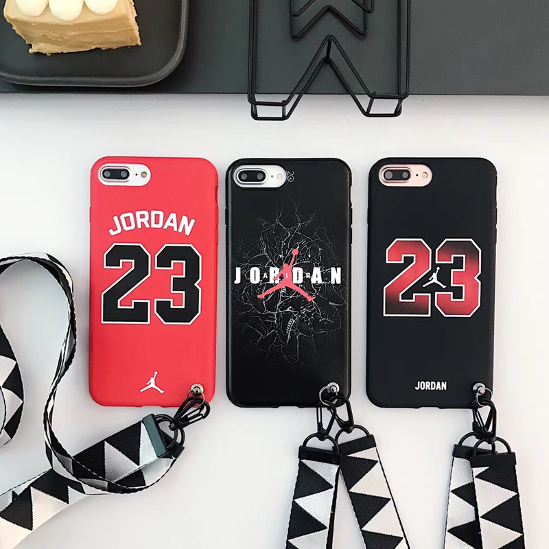 d2fbdf6bc8f5c Detail Feedback Questions about New bull Jordan 23 fly man soft silicon  Cover case for iphone 6 6S S plus 7 7plus 8 8plus X Lanyard jump man phone  cases ...