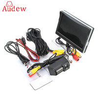 CCD HD Car Parking Backup Camera And Connect Car Rear View Reverse Camera + 5 Inch Car Monitor For Ford/Transit