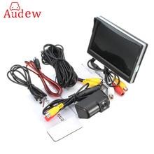 CCD HD автомобильная парковочная резервная камера и подключение автомобиля заднего вида + 5 дюймов автомобильный монитор для Ford/Transit