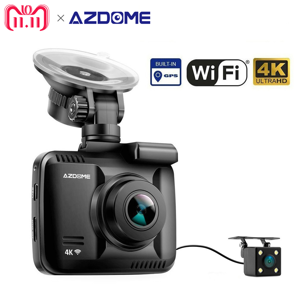 GS63H Car Dash Cam 4K 2160P Dash Camera Dashcam With WiFi GPS G-Sensor Loop Recording Parking Monitoring Car Camera DVR Azdome