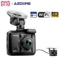 GS63H Car Dash Cam 4K 2160P Dash Camera Dashcam With WiFi GPS G Sensor Loop Recording Parking Monitoring Car Camera DVR Azdome