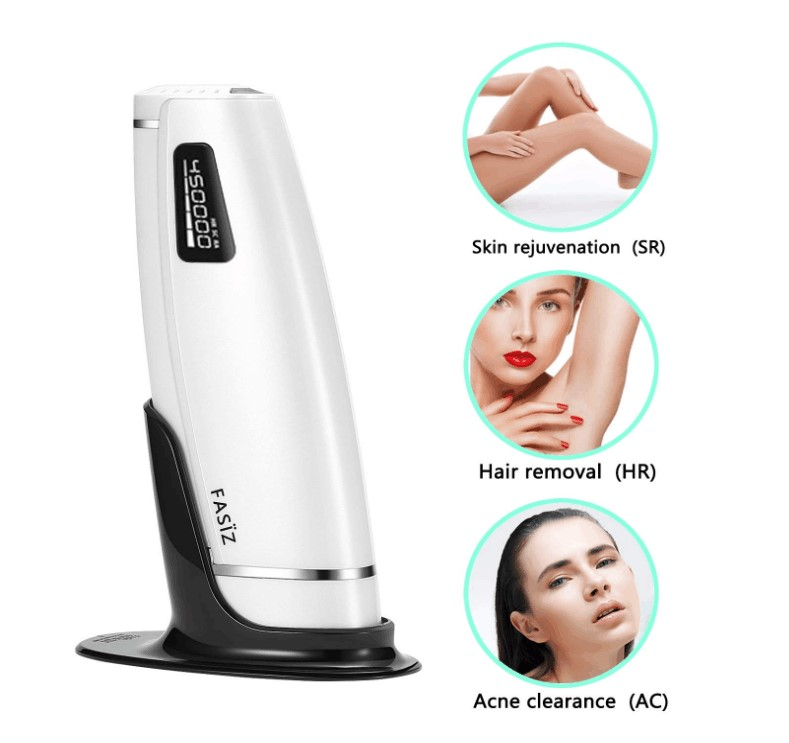 IPL Hair Removal Device 3 in 1 Professional Permanent 600000 Flashes Hair Removal Device for Home Beauty Use for HR SC RA Functi