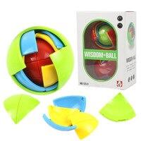 1 Pcs Hot Sale 3D Intelligence Ball Game Puzzle 3D Puzzle Ball Intelligence Maze For Children