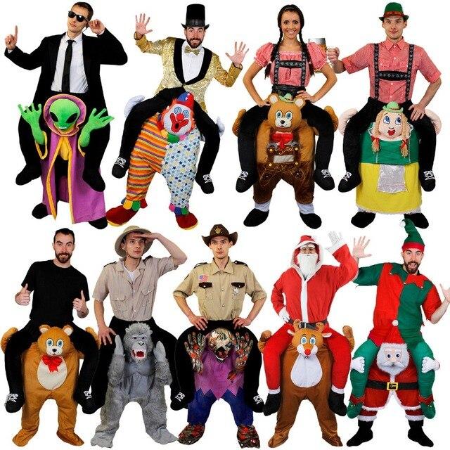 COSTUME CARRY ME PICK ME UP RIDE ON PIGGY BACK SANTA ALIEN CLOWN REINDEER Oktoberfest HALLOWEEN PARTY COSPLAY UNISEX Carnival