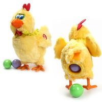 Laying Egg Hens Chicken Funny Relax Toys Electronic Crazy Singing Dancing Plush Children Dolls Novelty Spoof Tricky Gadgets Toys