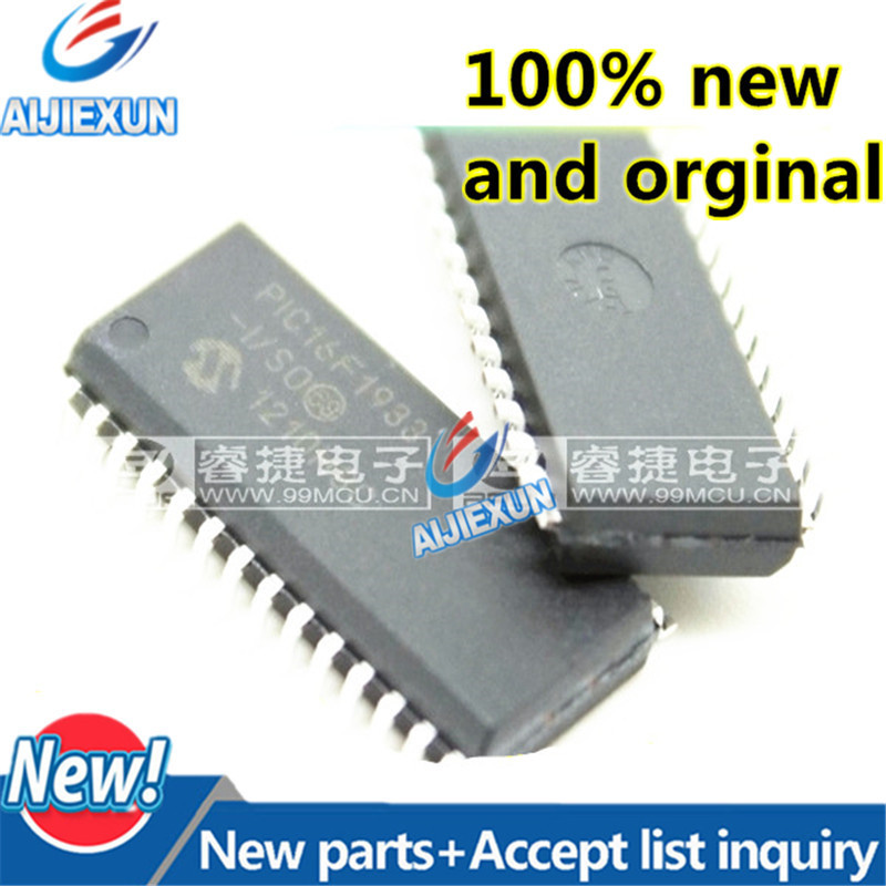 10pcs 100% Original and New Free shipping PIC16F1933-I/SO PIC16F1933 SOP28 28/40/44-Pin Flash-Based, 8-Bit CMOS in stock