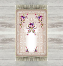 Indziej szary piętro purpurowe kwiaty Rose 3d turecki islamska muzułmanin dywaniki modlitewne Tasseled Anti Slip nowoczesny dywanik modlitewny Ramadan Eid prezenty