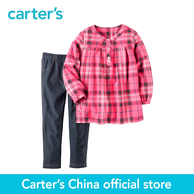 Carter s 2pcs baby children kids 2 Piece Neon Flannel Tunic Jegging Set 279G073 sold by