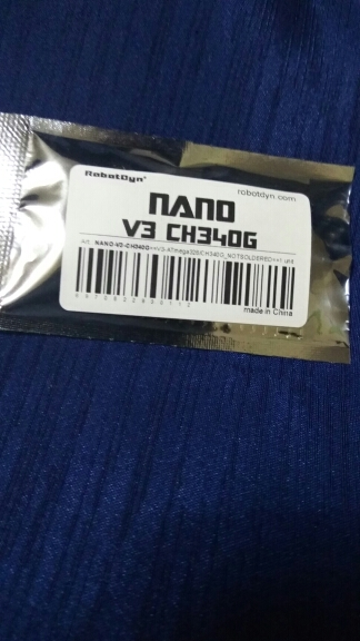 Nano V3 ATmega328/CH340G, Micro USB, Pin headers NOT soldered. Compatible for Arduino Nano V3.0