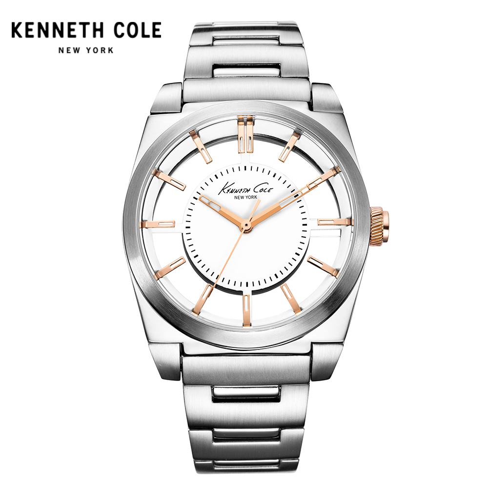 Kenneth Cole Women Watch Quartz Stainless Steel Tonneau Water Resistant Watches Elegant Women's Watches KC10027852 kenneth cole new white black women s size medium m tunic rib knit sweater $88