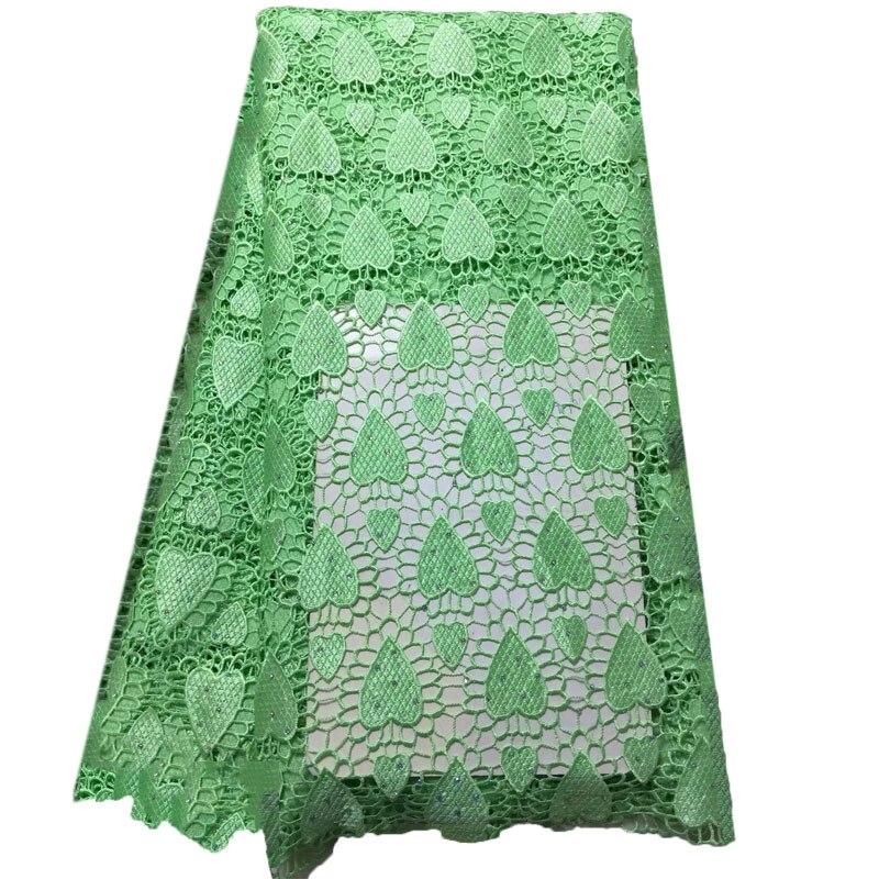 Couleur unie motif coeur broderie dentelle tissu africain cordon dentelle tissus nigérian Guipure dentelle tissu pour robe de mariée X911-1
