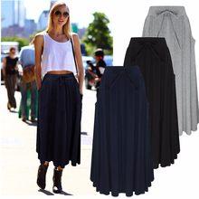 0e84fbcb9abf52 7 Kolory 2018 Moda Jesień Kobiety Długie Spódnice Plisowane Maxi kobieta  Lady Elastyczna Wysoka Talia Casual