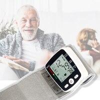 Automatic Voice Wrist Digital Blood Pressure Monitor Tonometer Meter USB Charge Wrist OLI W355 Germany Chip LCD Display