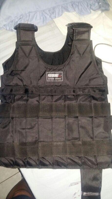 SUTEN 20 кг загрузки взвешенный жилет для бокса обучение Оборудование Регулируемый Упражнение жилет Черная курточка Swat песок Костюмы