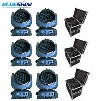 لا ضريبة مخصص 6 قطعة + 3 حالة التكبير غسل LED نقل رئيس ضوء 36x10 w rgbw 4in1 أو 36x12 w rgbwa 5in1 أو 36x15 w rgbwauv 6in1
