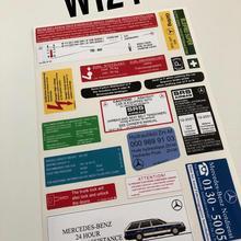 W124 e200 e280 e300 e500 300d 250d 200d 300e Наклейка Набор наклеек набор этикетка с принтом «Звезда», Эмблема Для Mercedes