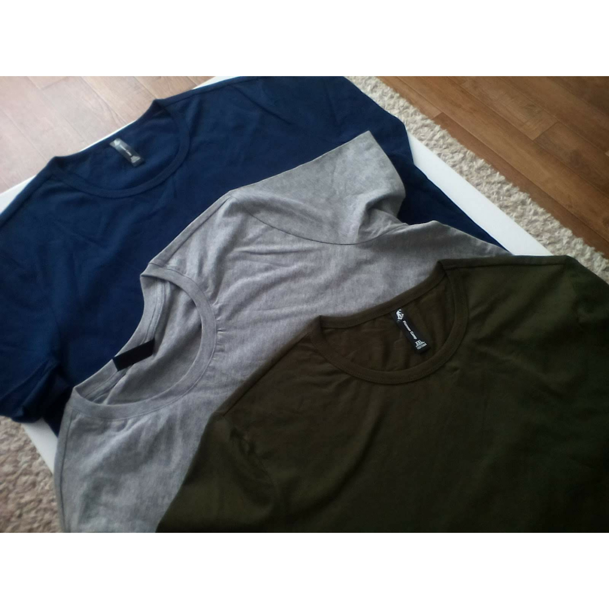 Pioneer Camp Pack of 3 promoting short sleeve t-shirt men brand clothing summer solid t shirt male casual Tees