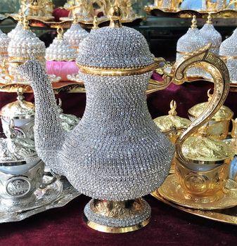 Swarovski decorated beads , tea pots high value Hand made arabic luxury