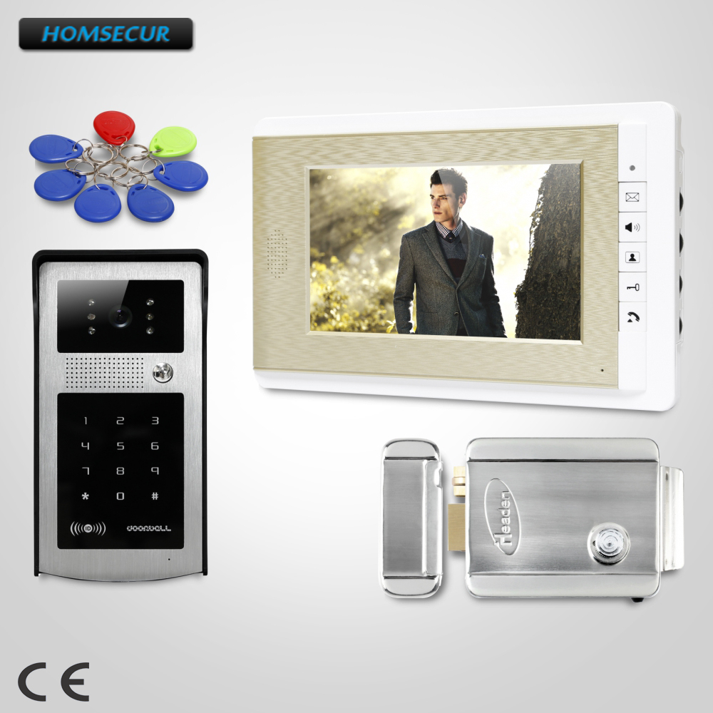 HOMSECUR 7 Video Door Phone Intercom System with Keyfobs Password Keypad for House/ Flat  XC004-S+XM708-GHOMSECUR 7 Video Door Phone Intercom System with Keyfobs Password Keypad for House/ Flat  XC004-S+XM708-G