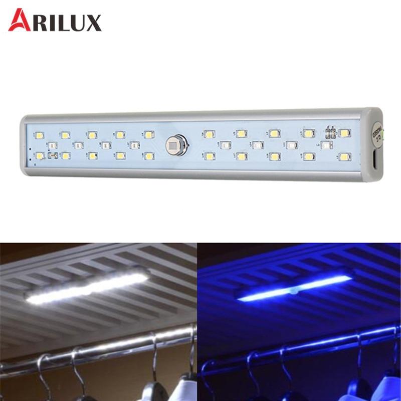 ARILUX Portable 20 White LED   8 UV LED USB Rechargeable